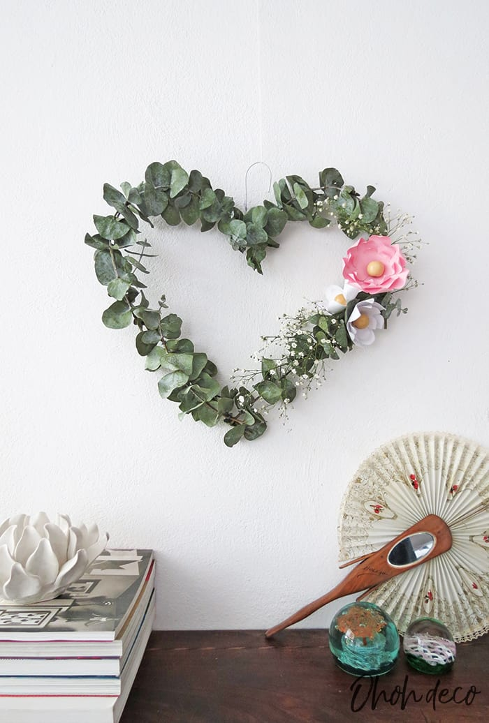 hanging heart wreath