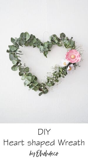 make heart wreath with eucaliptus