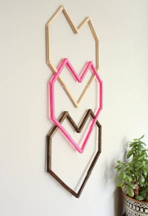 wall decor with pap sticks