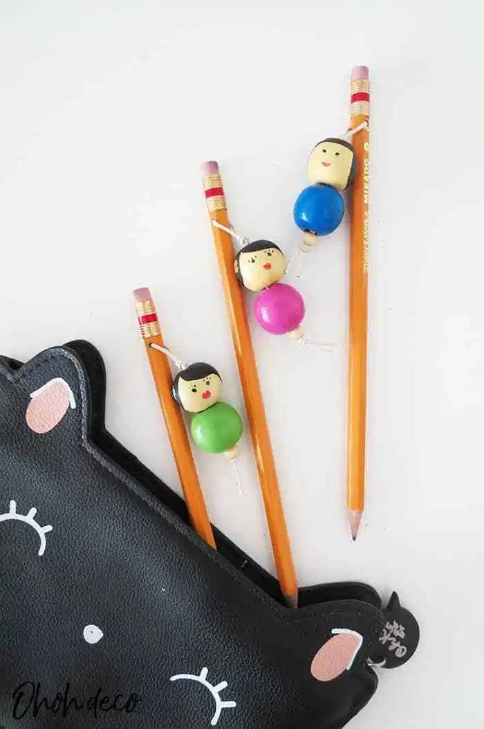 diy bead pencil toppers