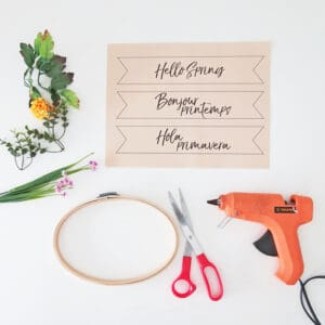 materials to make a spring wreath