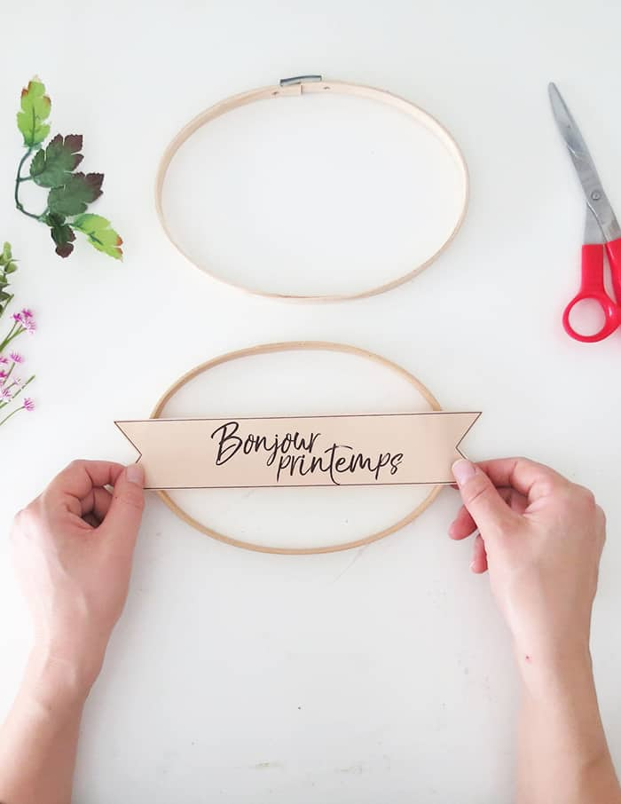 spring wreath banner diy
