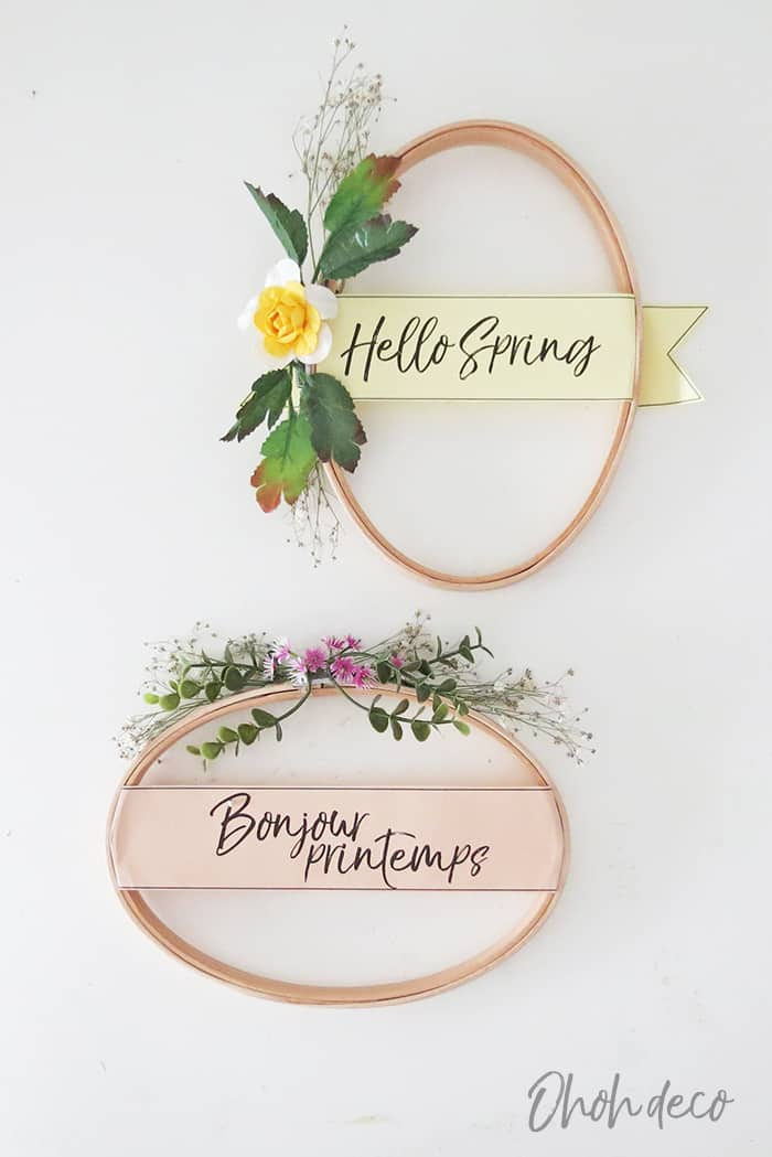10 minutes spring wreath diy