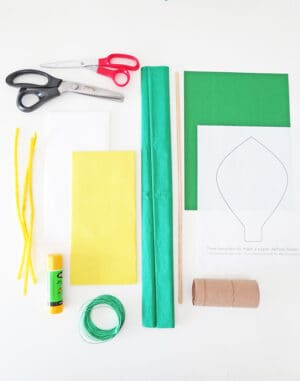 materials to make paper flower