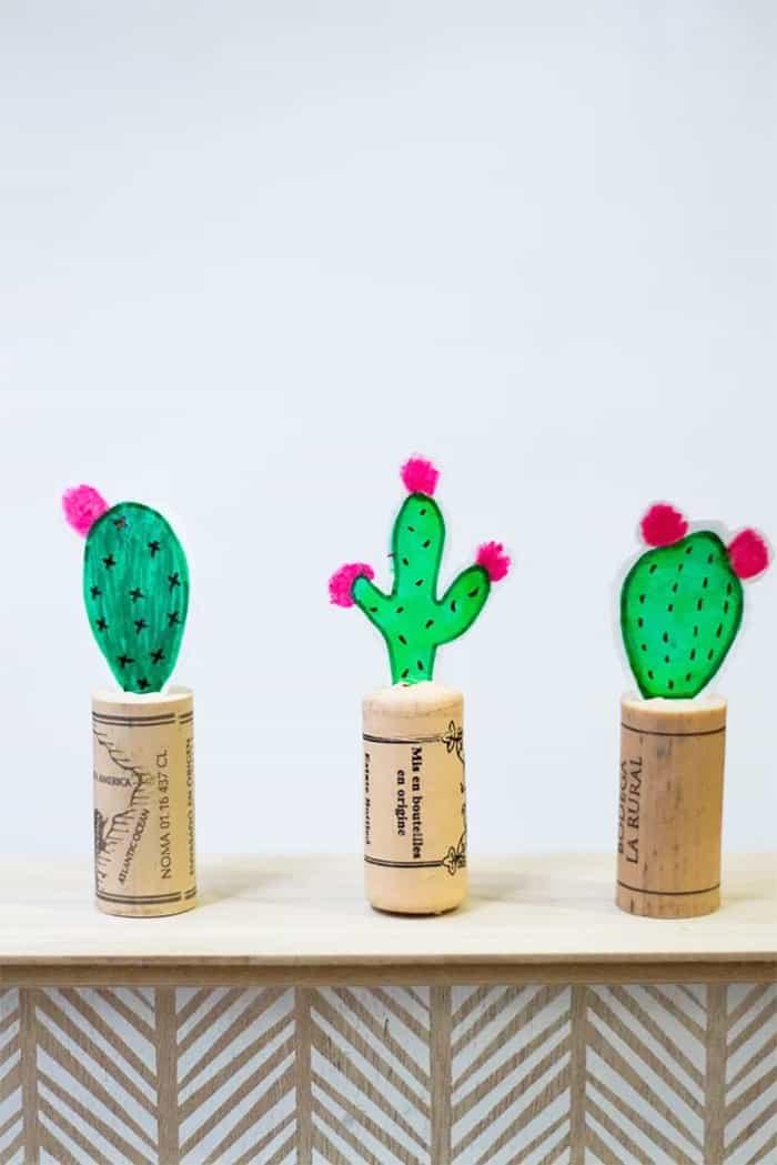 mini paper cactus