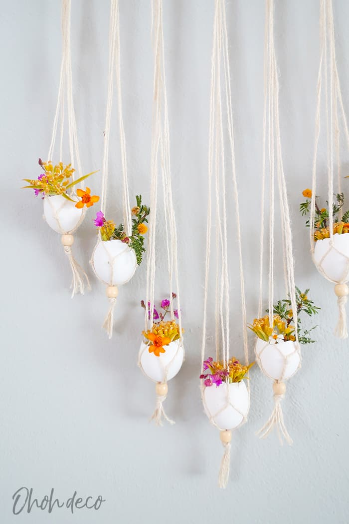 Make a wall hanging with eggshelld