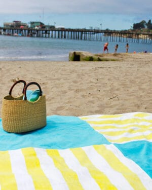 make a giant towel blanket for the beach