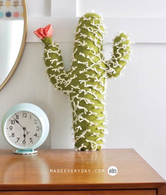 how to sew a cactus cushion