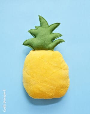 how to sew a pineapple cushion
