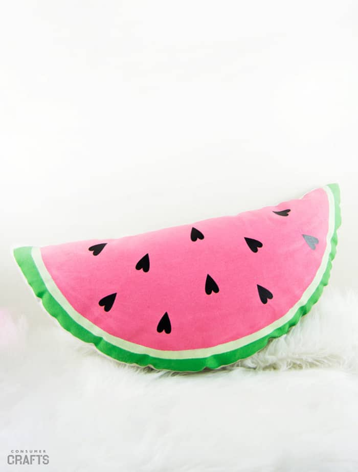 how to sew a watermelon cushion