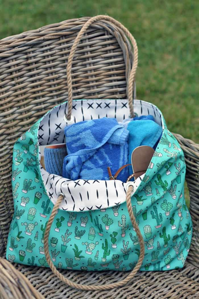 tote back free pattern and tutorial
