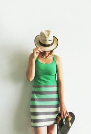 sew a summer dress with t-shirts