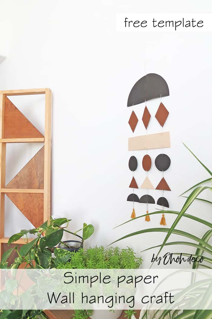 easy diy wall hanging with paper