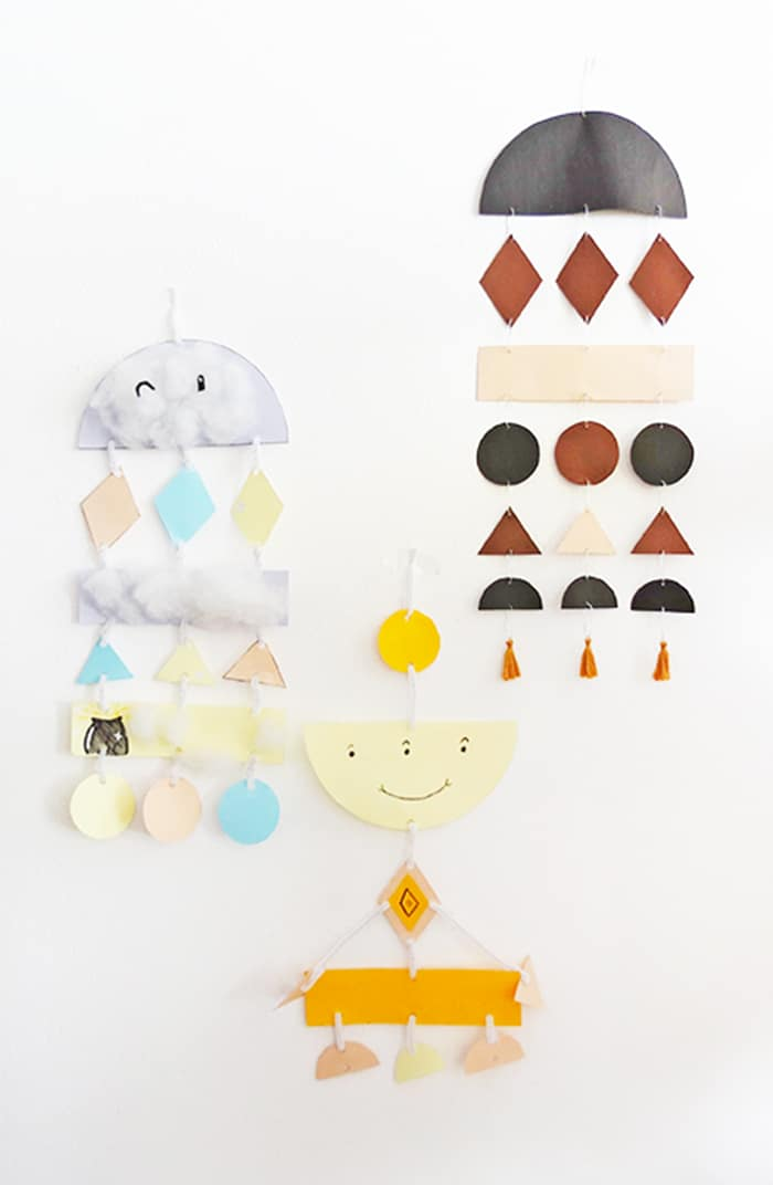 diy paper wall hanging for kids