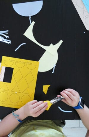 cut shapes for kids paper wall hanging