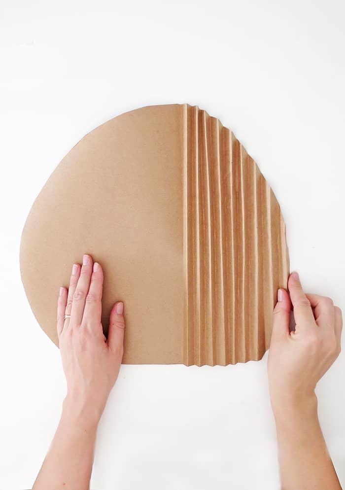 diy paper palm leaf folding accordion