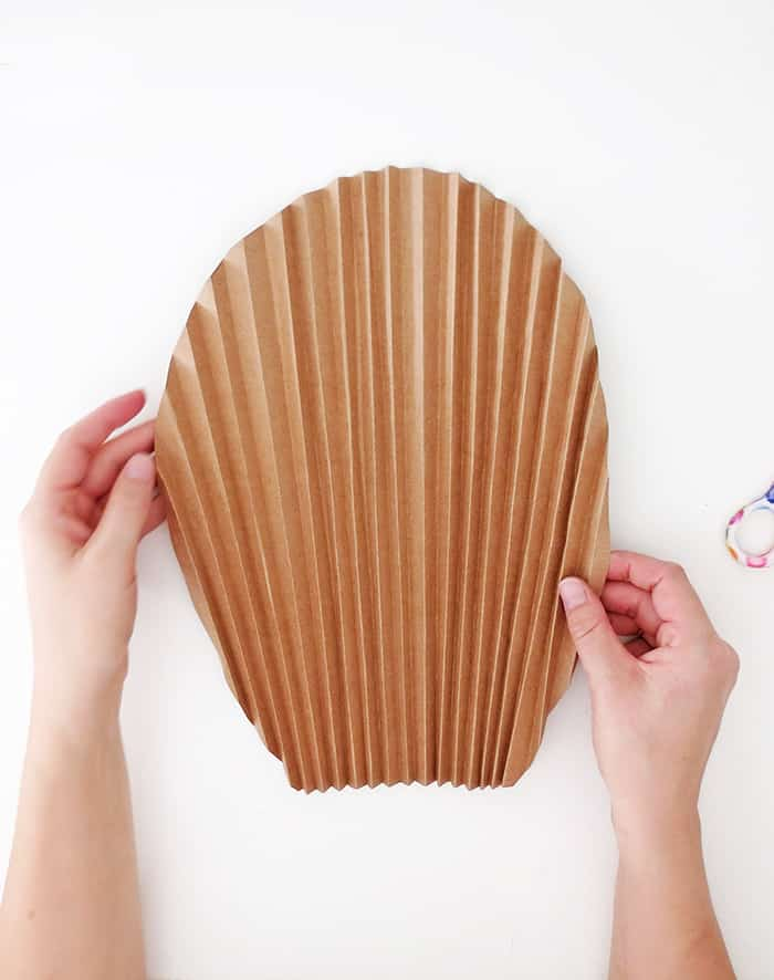 diy paper palm leaf folded