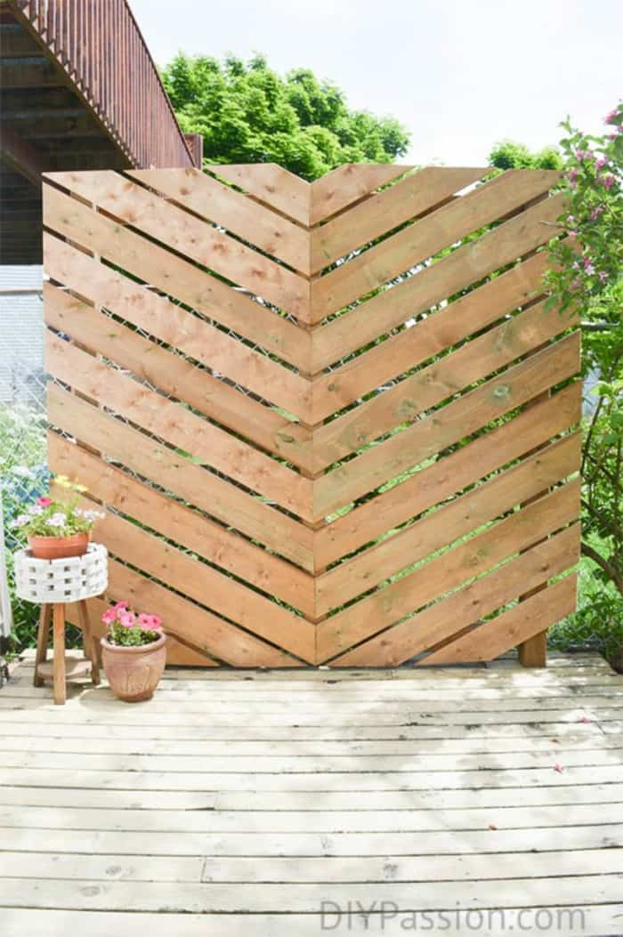 Easy t build privacy screen
