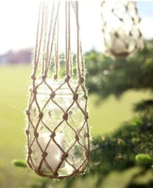 dy jute string candle holder