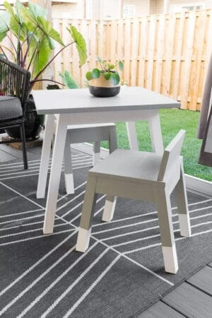 diy kid table and chair