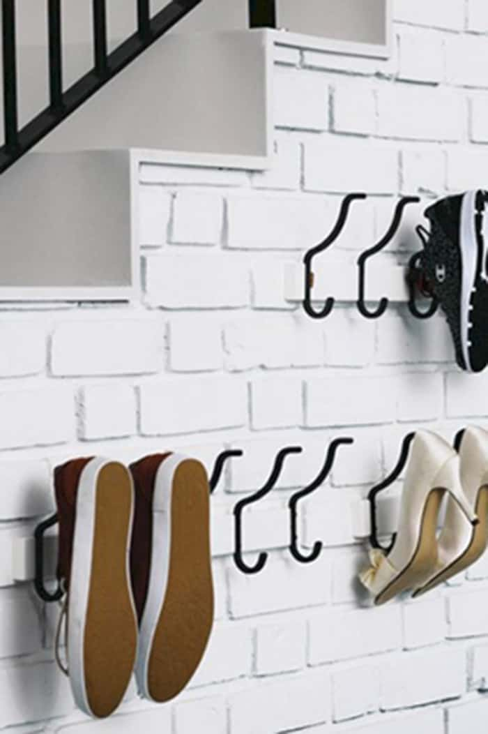 wall shoe storage diy