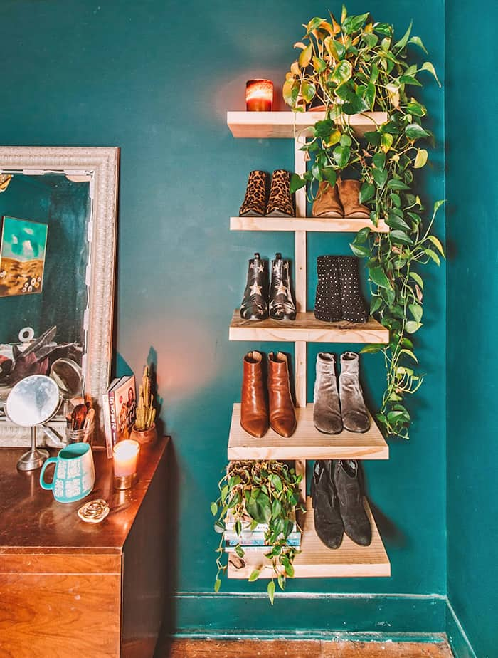 diy shoe rach vertical
