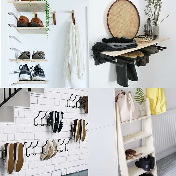 shoe storage ideas 21 easy DIY