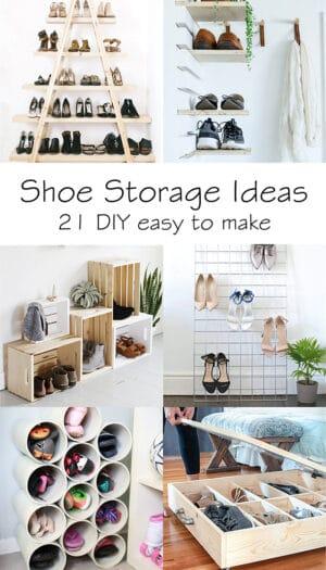 shoe storage ideas: 21 DIY easy to make
