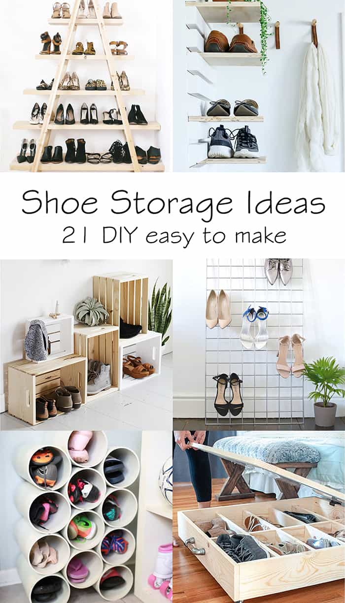 shoe storage ideas: 21 DIY easy to make