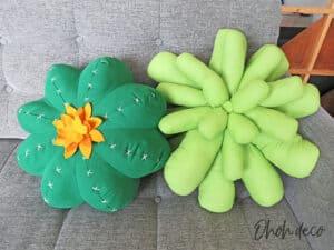 succulent pillow and cactus pillow