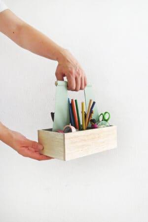 how to make a desk organizer caddy