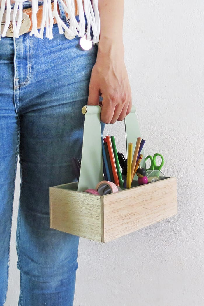 DIY Desk Organizer Caddy