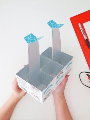 assembled recycled desk organizer