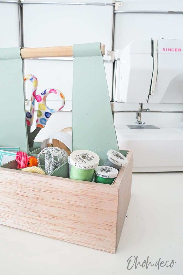 easy to make diy sewingcaddy