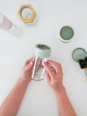 clean the diy flower vase