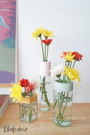 diy cement flower vase