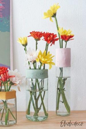 make a cement flower vase
