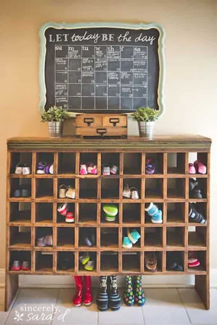 diy large shoe cubby