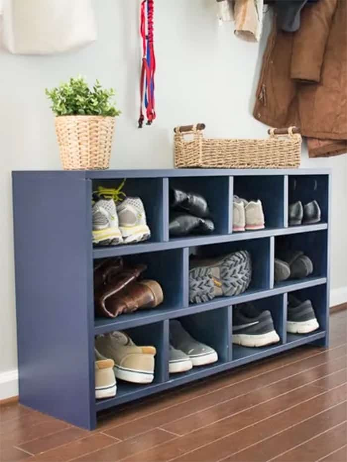 diy shoe cubby