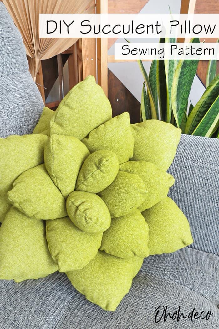 diy succulent pillow pattern