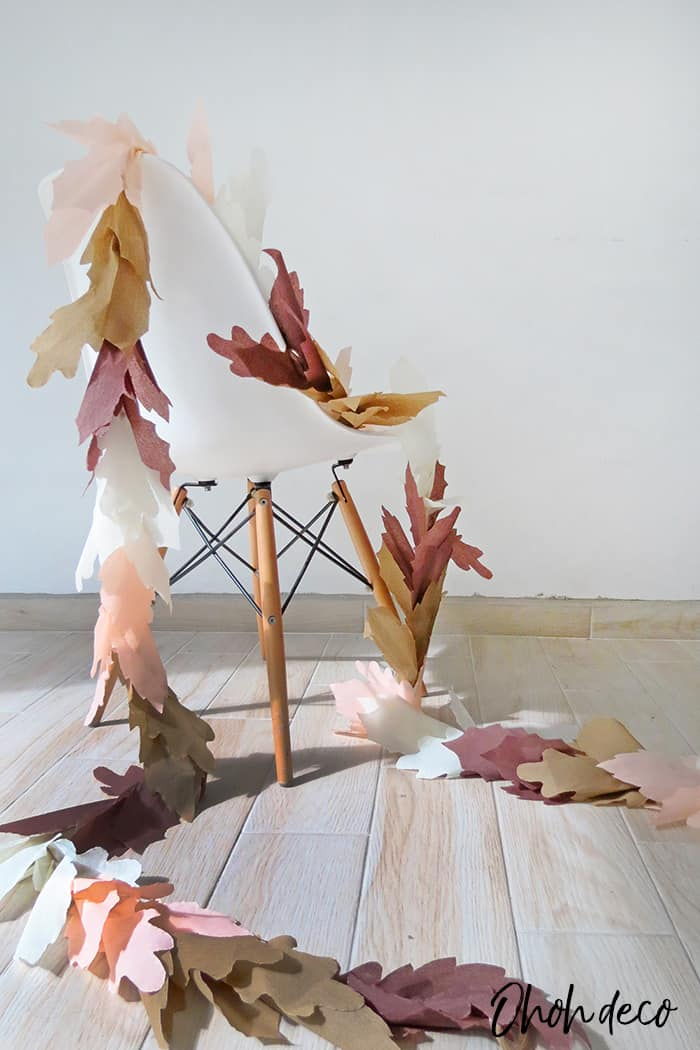 easy to make fall leaf garland