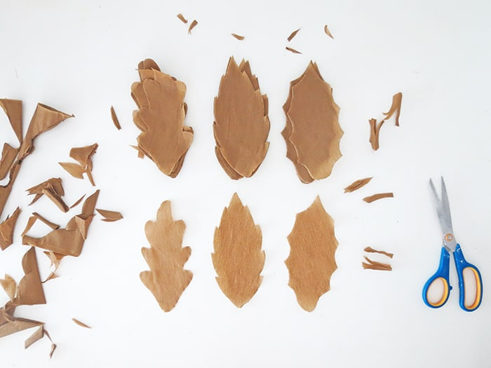 paper fall leaf to make garland