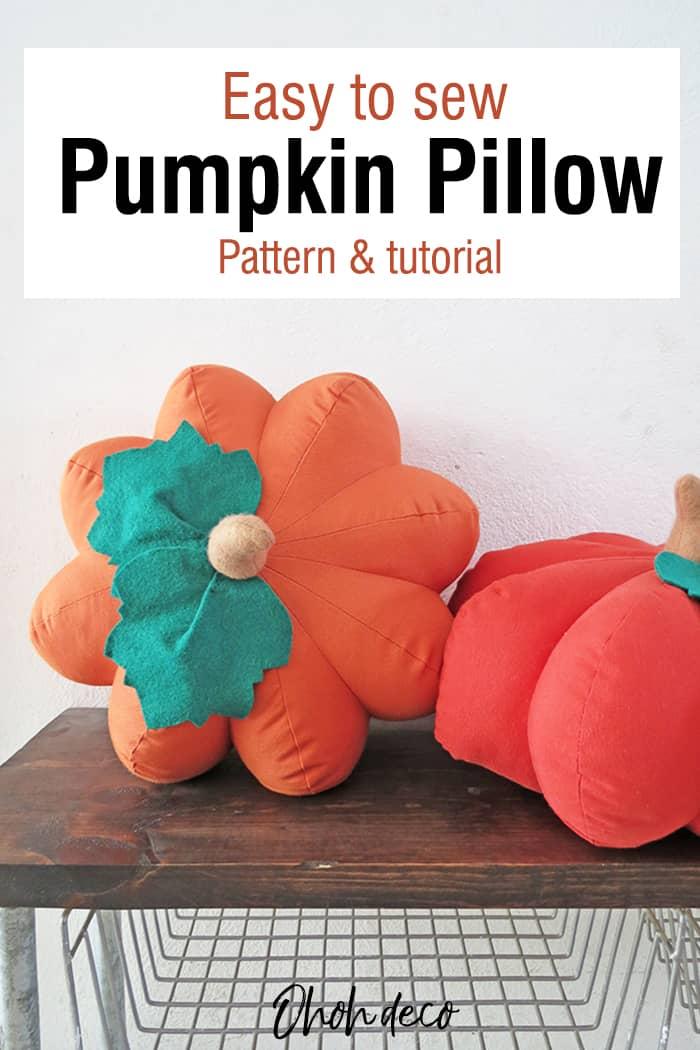 How to sew a pumpkin shaped pillow