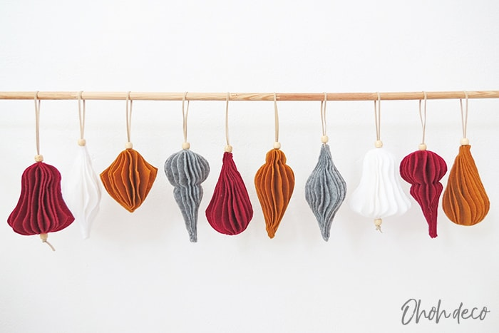 Easy to make Felt Christmas Ornaments patterns