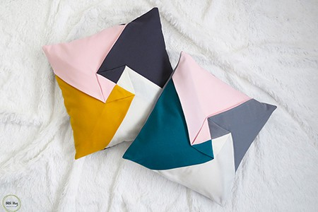origami pillow cover