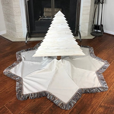 star shaped tree skirt