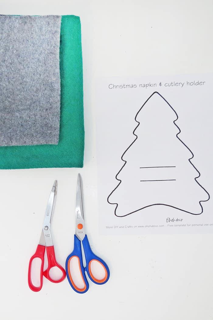 Christmas napkin holders free template
