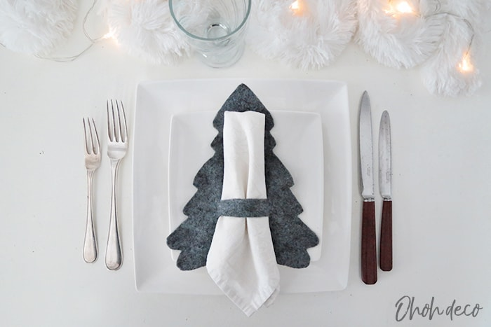 DIY Christmas Napkin rings and Cutlery holders
