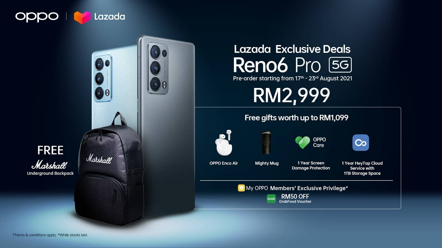 OPPO Launches the Portrait Video Expert Reno6 Pro Exclusively on Lazada