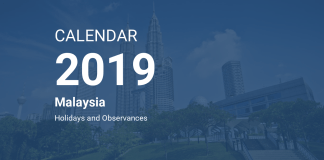 kalendar dan cuti umum 2019